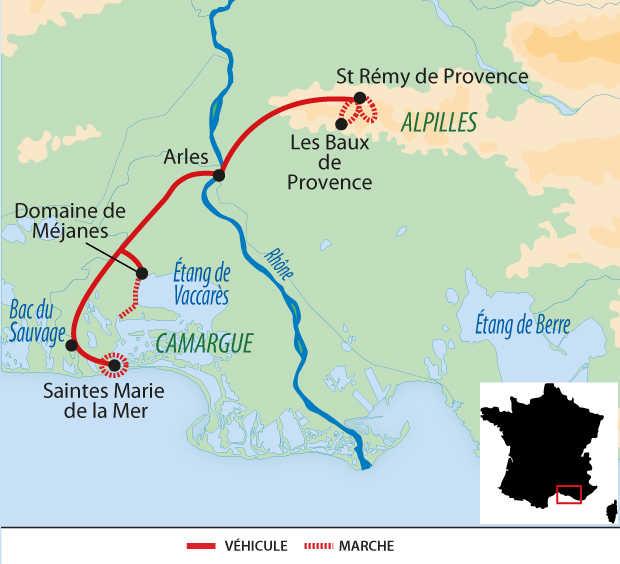Carte Voyage France Provence Alpilles Camargue Liberté