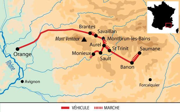 Carte Voyage France Provence Lavande