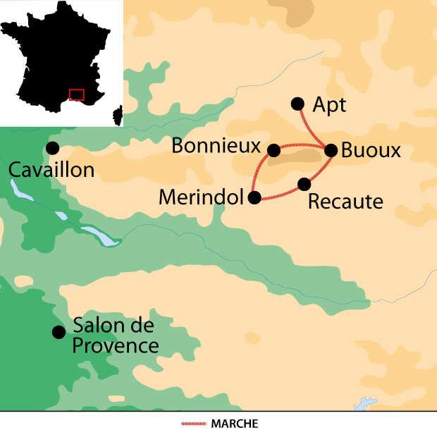 Carte voyage France Provence Luberon