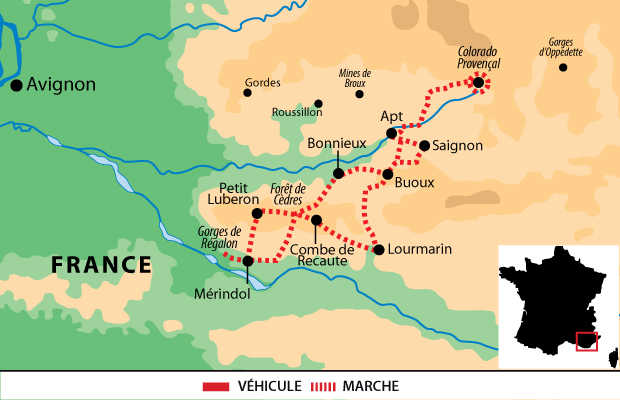 Carte voyage France Provence Luberon Liberte