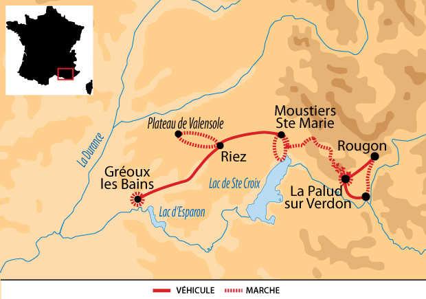 Carte Voyage France Provence Verdon
