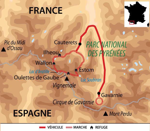 Carte Voyage France Pyrenees Gavarnie Cauterets Liberte