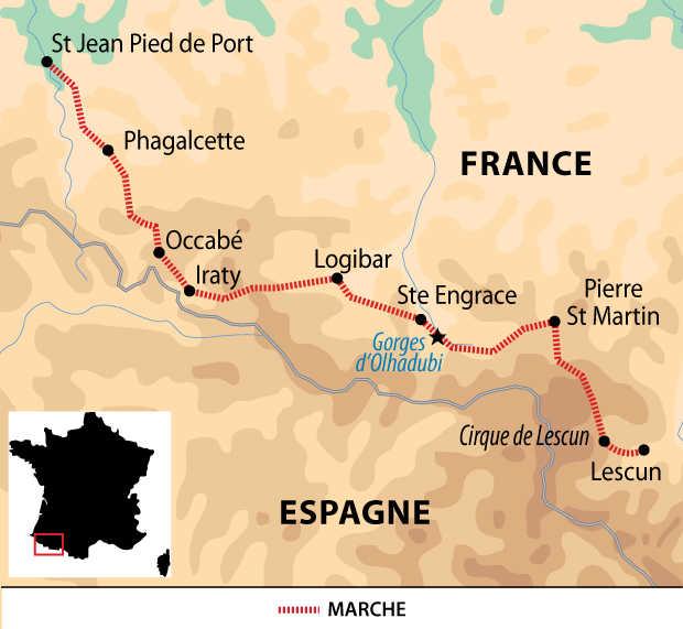 Carte voyage France Pyrenees GR10 Partie 2 Liberte