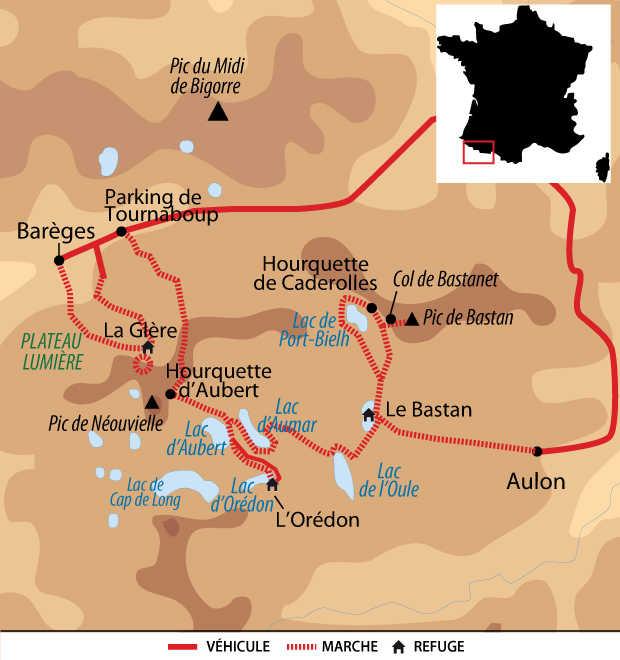Carte Voyage France Pyrenees Neouvielle Liberte FPYNELIB