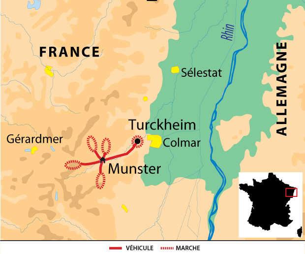 Carte Voyage France Vosges Munster