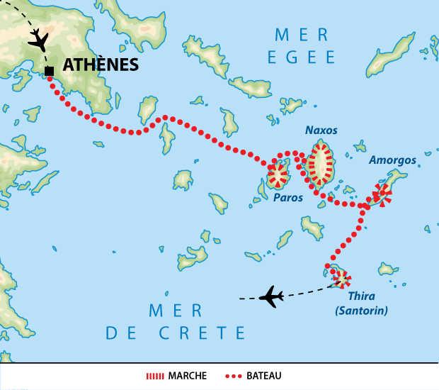 Carte voyage Grece Cyclades Liberte