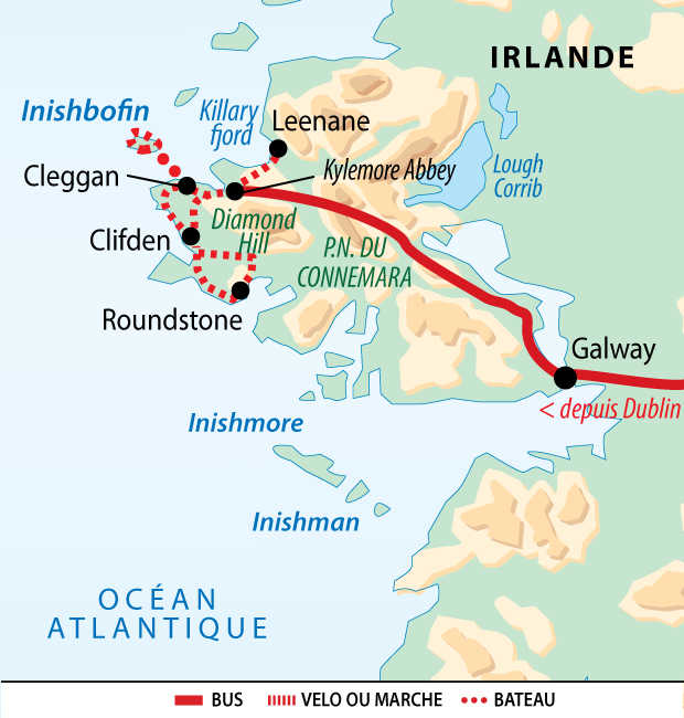 Carte voyage Irlande Liberte Velo