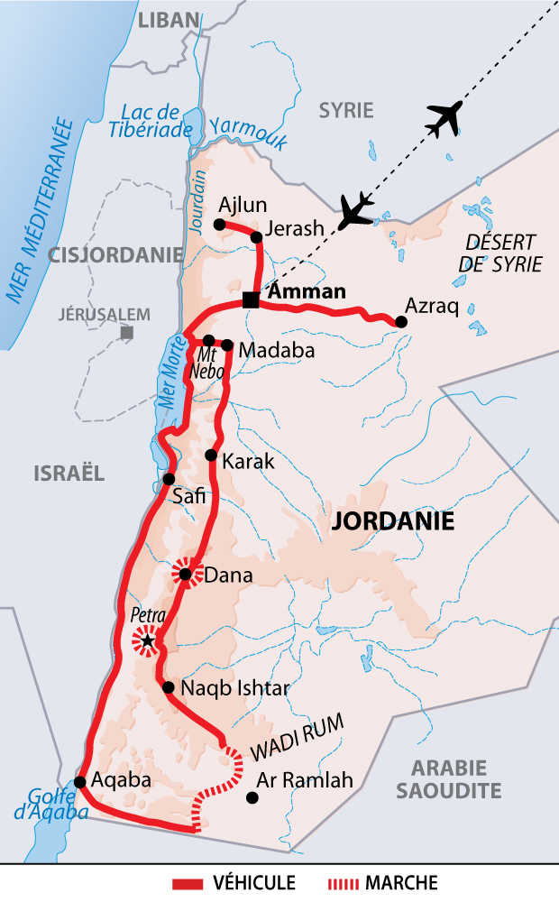 Carte Voyage Jordanie 14 jours