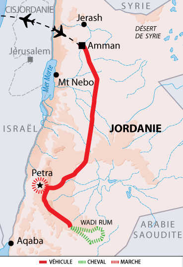 Carte Voyage Jordanie Cheval