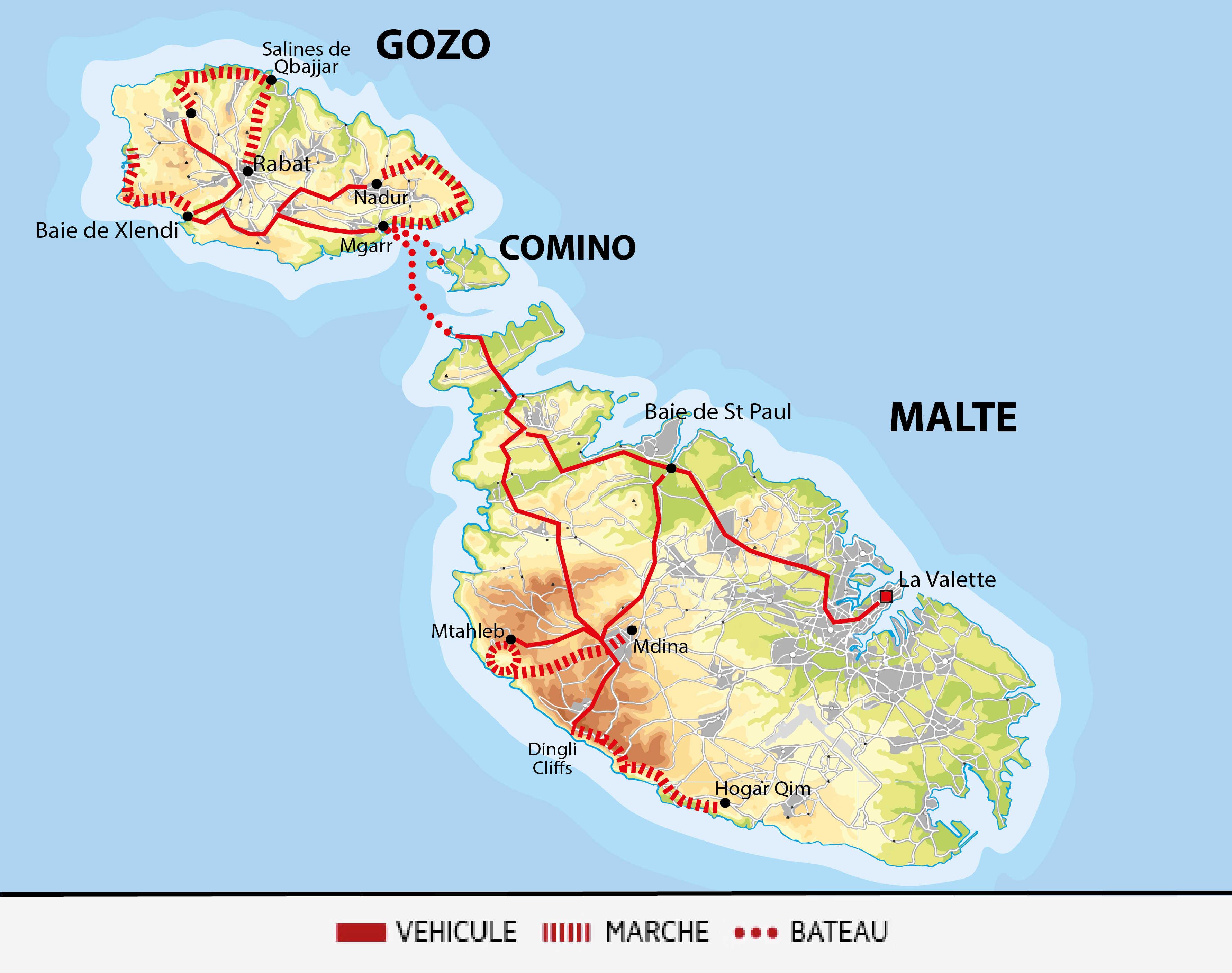 Carte voyage Madere