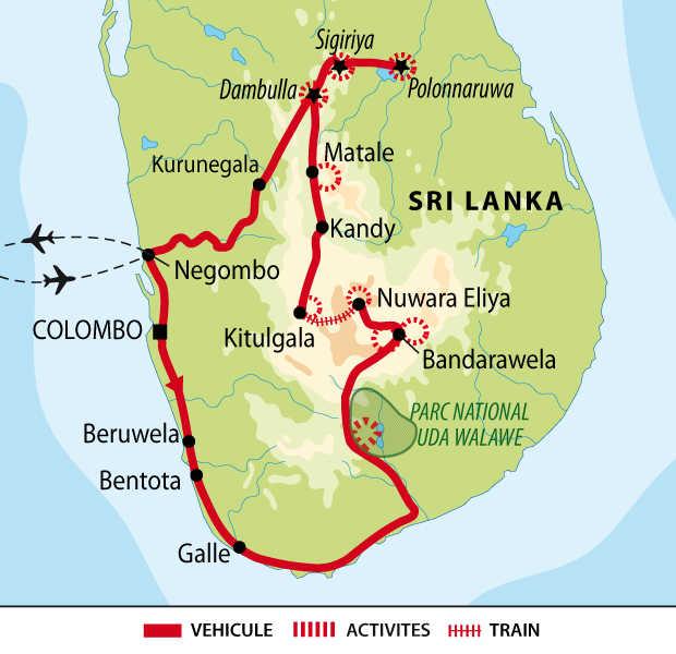 Carte voyage multiactivité Sri Lanka