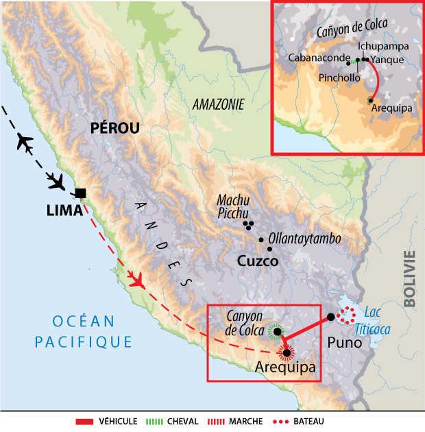 Carte voyage Perou Cheval