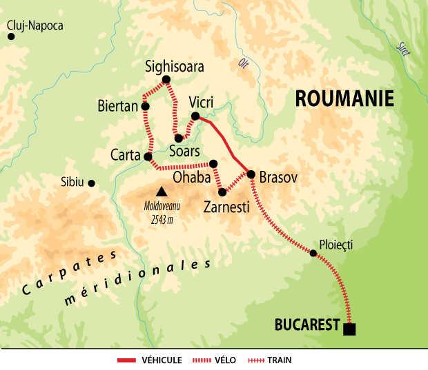 Carte Voyage Roumanie Liberte Velo