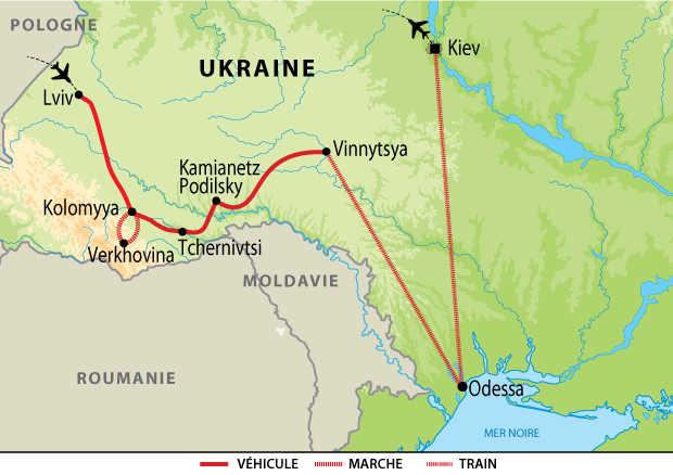 Carte Voyage Ukraine