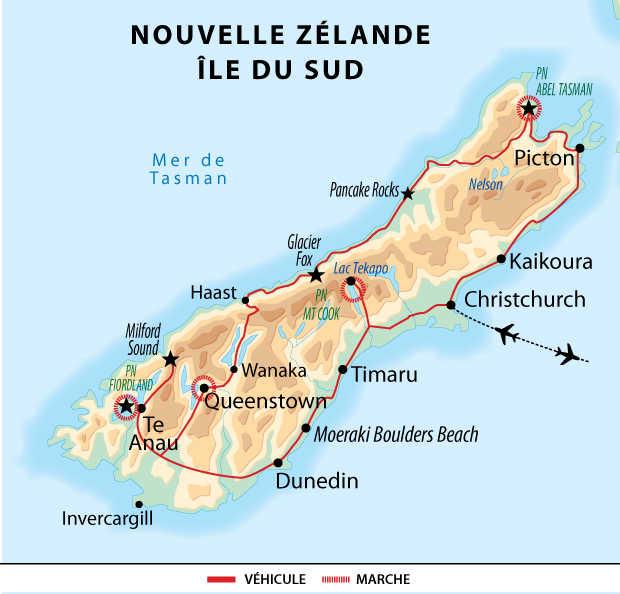 Circuit en Nouvelle Zélande