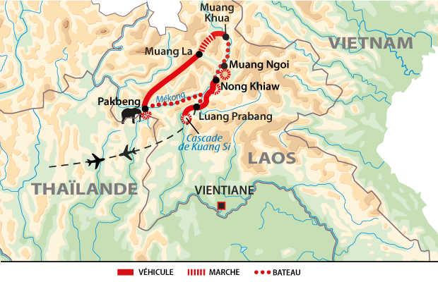 Itinéraire balade et rencontres dans le nord du Laos