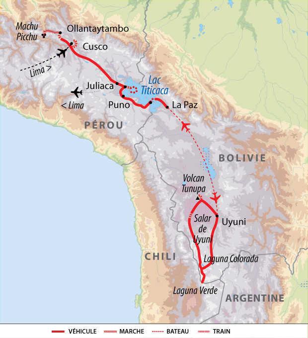 Itinéraire de contrastes entre Pérou et Bolivie