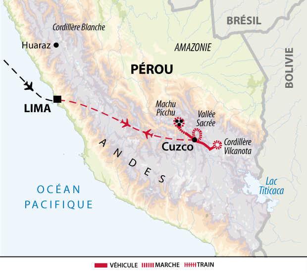 Itinéraire de Cusco à la montagne aux 7 couleurs