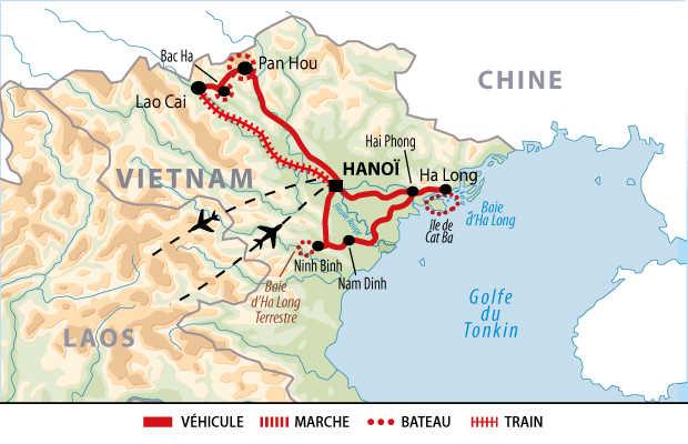 Itinéraire de l'essentiel du Nord Vietnam et Haut Tonkin