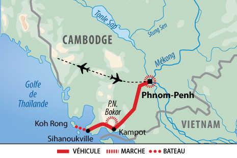 Itinéraire de la découverte du Sud du Cambodge