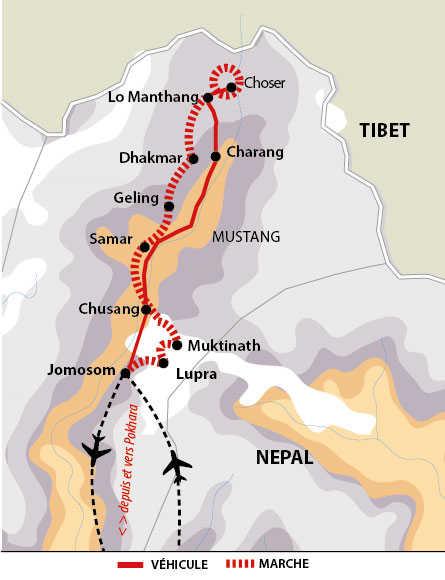 Itinéraire de l'essentiel du Mustang