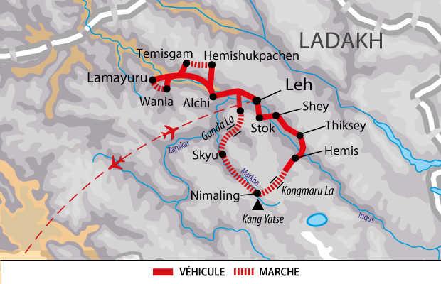 Itinéraire de Trek et rencontres dans la vallée de la Markha