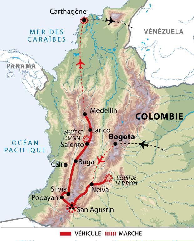 Itinéraire des Andes aux Caraïbes