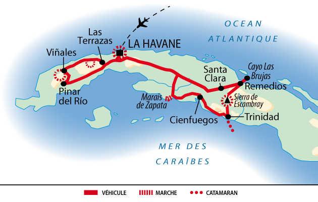 Itinéraire des balades et salsa à Cuba