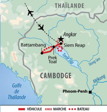 Itinéraire des temples d'Angkor au Tonle Sap