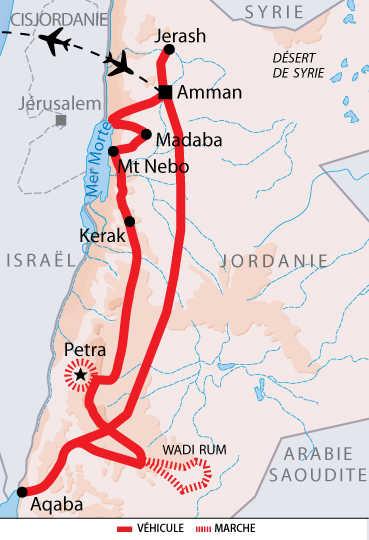 Itinéraire des trésors de la Jordanie