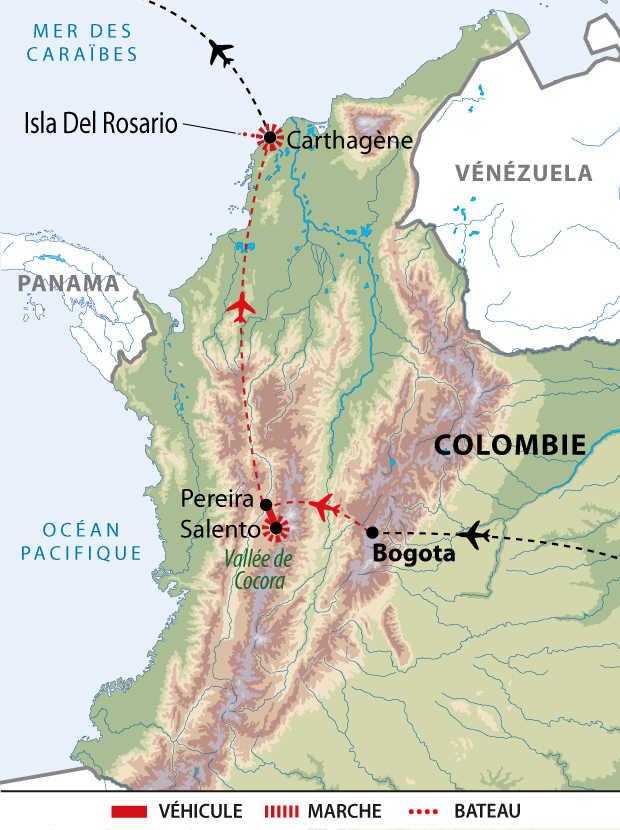 Itinéraire du best of de la Colombie