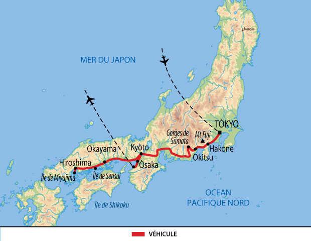 Itinéraire du circuit essentiel au Japon