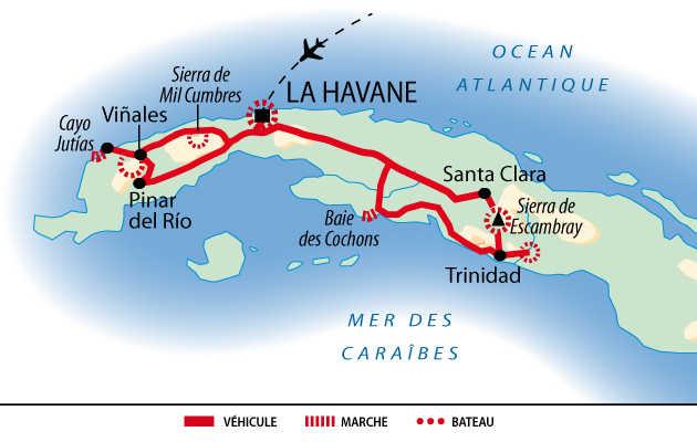Itinéraire du circuit Rando Caraïbes