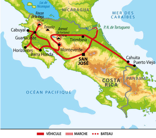 Itinéraire du voyage au royaume de l'or vert