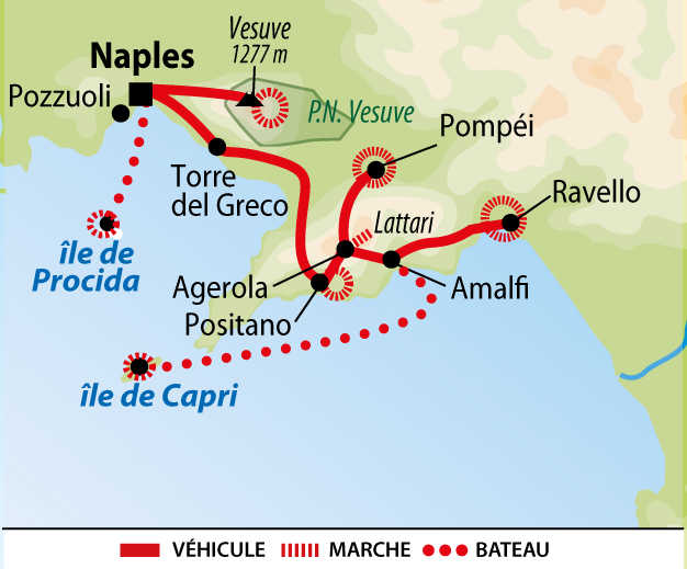 Itinéraire du voyage Naples et ses îles