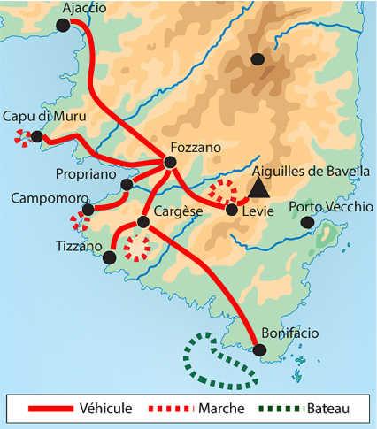 Itinéraire en Corse du sud