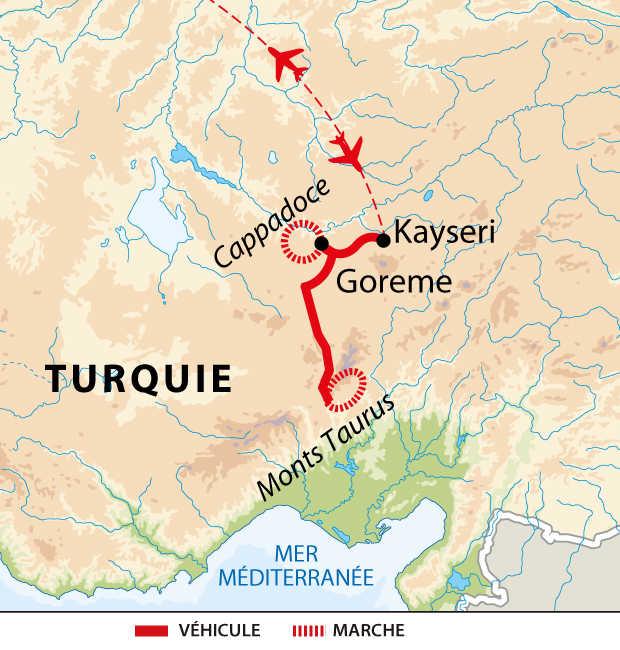 Itinéraire entre le mont Taurus et la Cappadoce