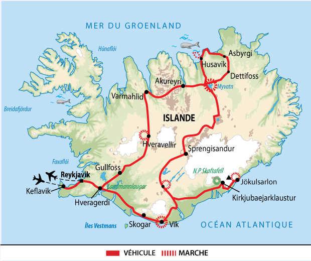 Itinéraire sur les pistes des hautes terres islandaises