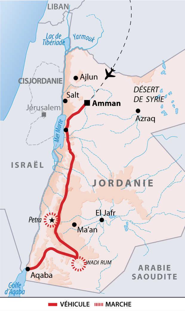 Itinéraires des aventures en famille en Jordanie