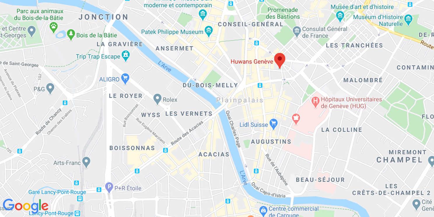 Map de l'agence Huwans à Genève