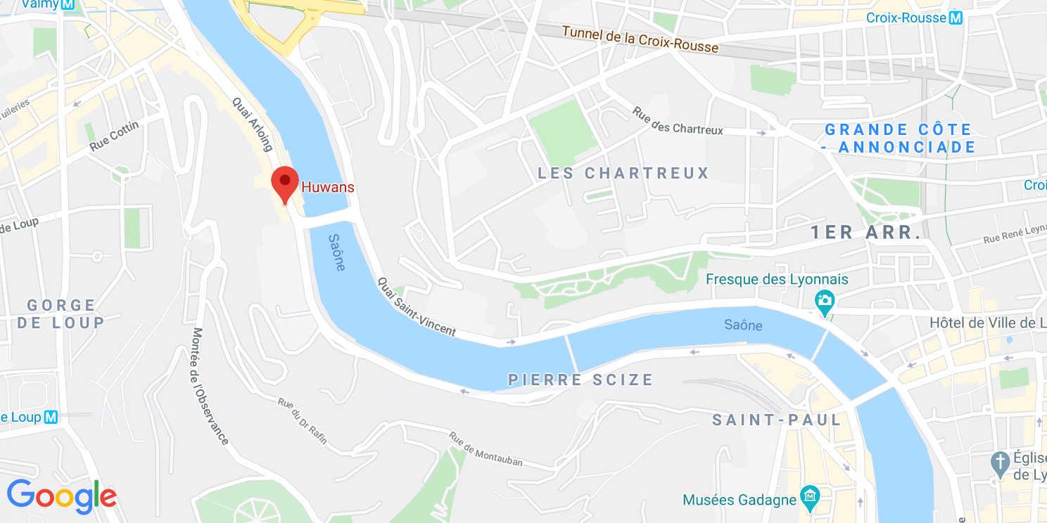 Map de l'agence Huwans à Lyon