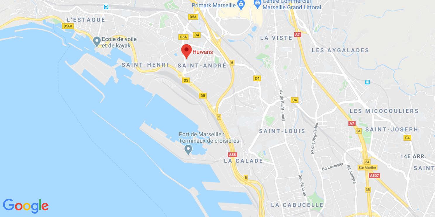 Map de l'agence Huwans à Marseille
