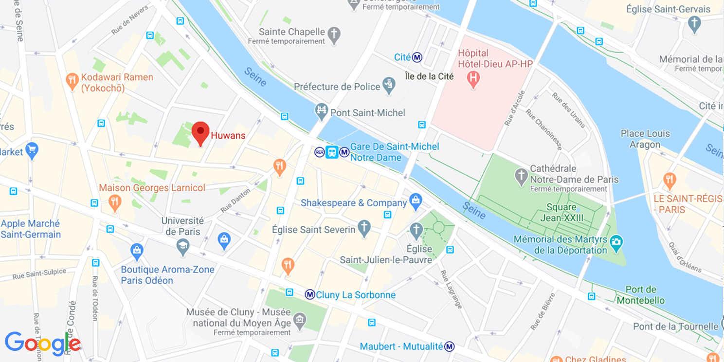 Map de l'agence Huwans à Paris