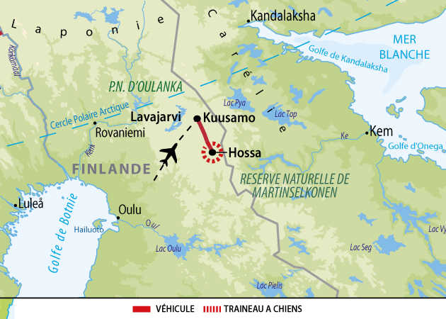 Carte : Voyage en Finlande