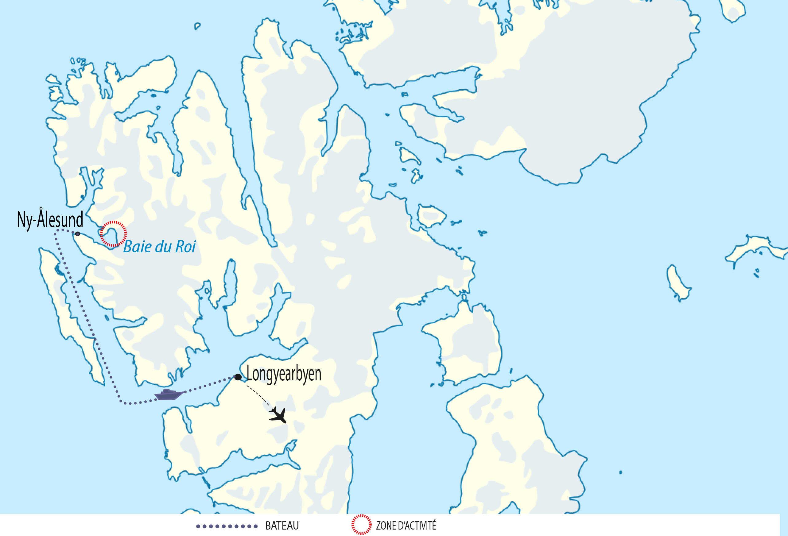 Trajet en bateau pour notre expédition Baie du Roi