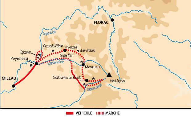 Trek entre Grands Causses et Cévennes