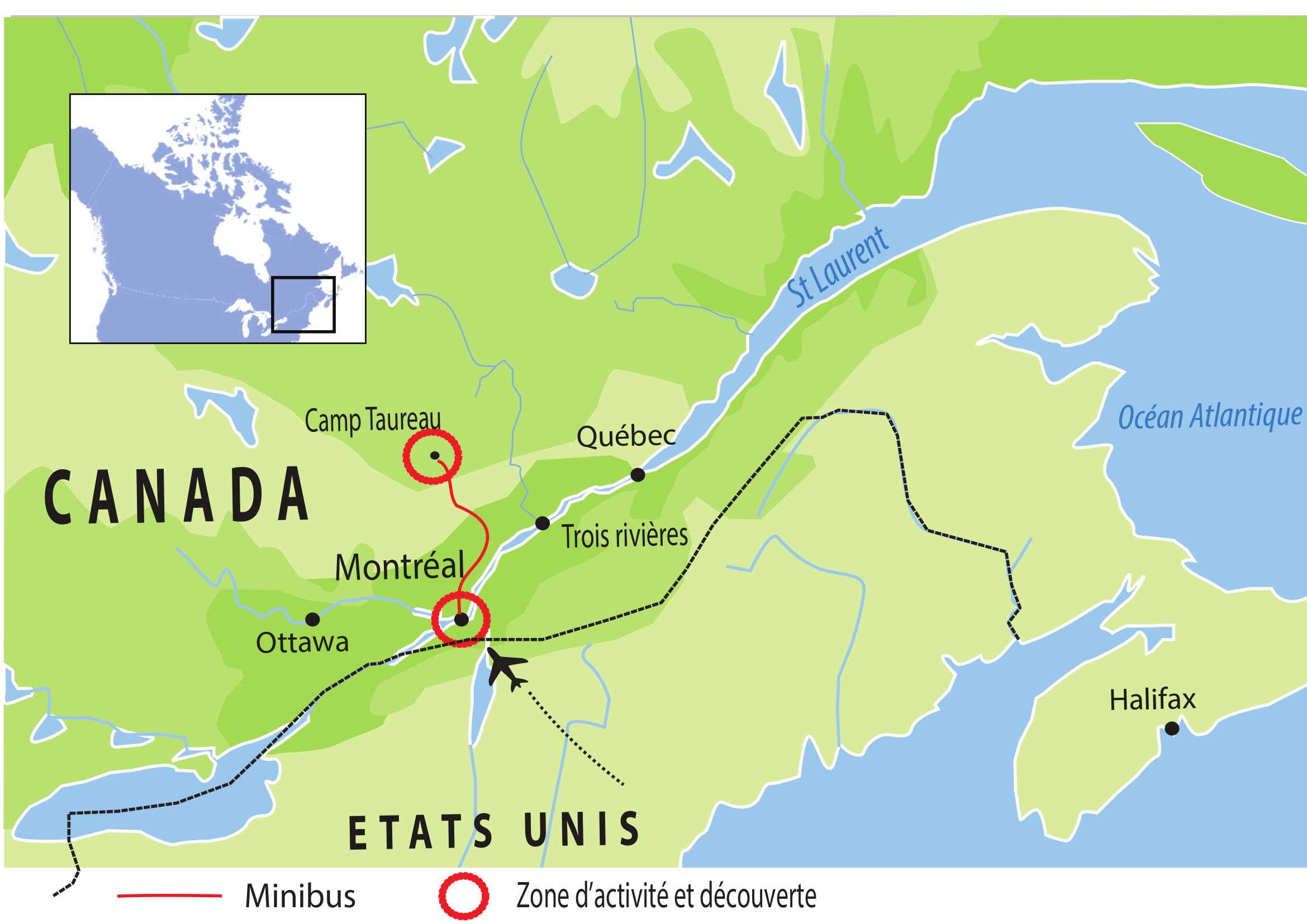 voyage canada québec chien traineau