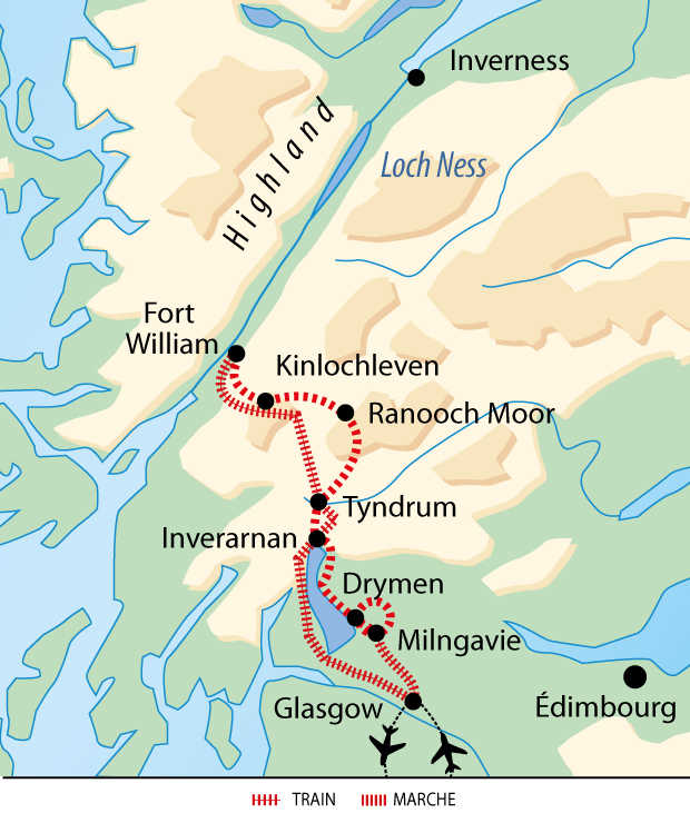 Carte séjour West highland way