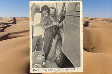 Yves Godeau à la découverte du Sahara en camion