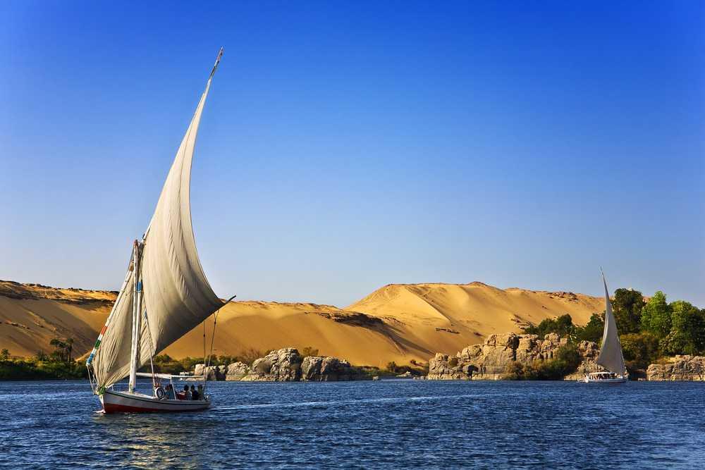 Felouque sur le Nil en Egypte